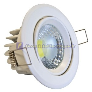 COB LED Downlight Tilt Aro 450 lm 5W Blanc Froid