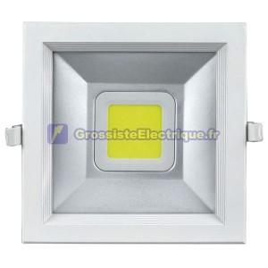 COB LED Downlight 30W 4000K carré lm 2700 en retrait