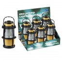 Exposant de 6 Mini-Lanternes de camping 12 LED
