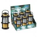 Exposant de 6 Mini-Lanternes de camping 12 LED