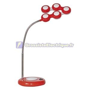 Flexo Lampe LED Rouge bureau Mecano