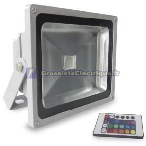 Projecteur RGB LED 30W avec télécommande