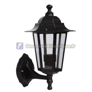Lanterne de jardin en aluminium - Appliquer 6 côtés noir