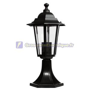 Lanterne de jardin en aluminium - Noir 6-sided Sobremuro