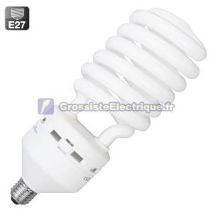 Encadré 10 ampoules basse consommation 65W E27 froide spirale