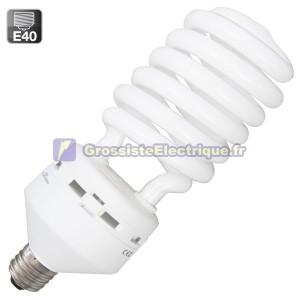 Encadré 10 ampoules basse consommation 85W E40 froide spirale