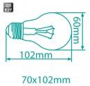 Encadré 10 ampoules halogène standard ECO 105W (150W) E27