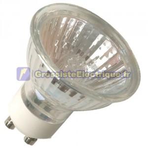Encadré 10 ampoules GU10 35W halogènes dichroïques 60e