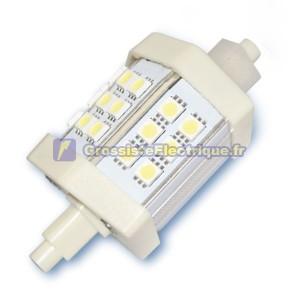 R7s 4W lampe LED 78mm linéaire. 320 lm à froid