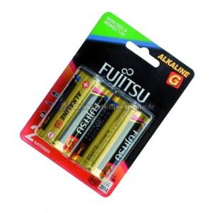 Encadré 10 2 unités de piles alcalines LR20 / D 1,5 V pour Fujitsu