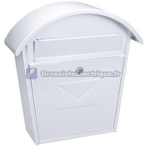 Blanc boîte aux lettres extérieure