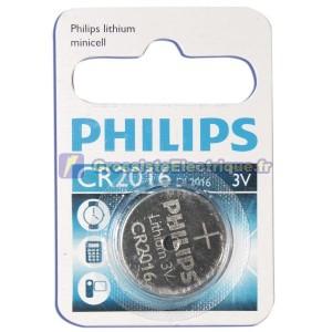 Encadré 10 blisters de 1 pc. CR2016 3V Lithium Pile bouton Philips