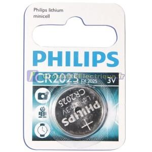 Encadré 10 blisters de 1 pc. CR2025 3V Lithium Pile bouton Philips