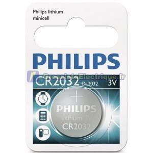 Encadré 10 blisters de 1 pc. CR2032 3V Lithium Pile bouton Philips