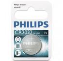 Boîte de 10 ampoules de 1 pc. CR2032 3V Lithium Pile Philips