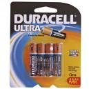 Boîte de 10 blisters de 4 unités. LR03 AAA piles alcalines Duracell Ultra