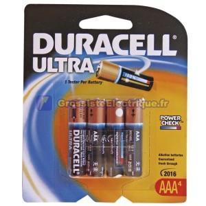 Encadré 4 pcs 10 ampoules. LR03 AAA piles alcalines Duracell Ultra