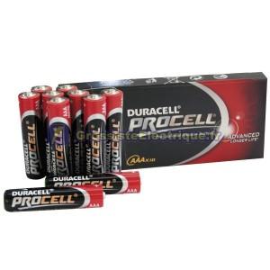 Boîte de 10 unités LR03 Duracell Procell AAA