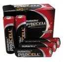 Encadré 10 unités piles alcalines LR06 Duracell Procell AA