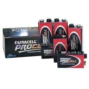 Boîte de 10 pièces 9V Duracell Procell Piles alcalines