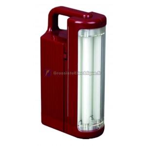 2 piles rechargeables lampe de poche 6W T5 tubes chacun.