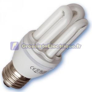 Encadré 10 Mini ampoules basse énergie 20W E27 2700K chaud