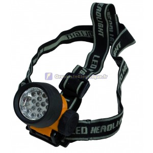Lanterne de tête 17 LED avec sangles réglables