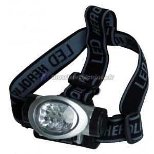 Lampe de poche LED avec 8 têtes bretelles réglables