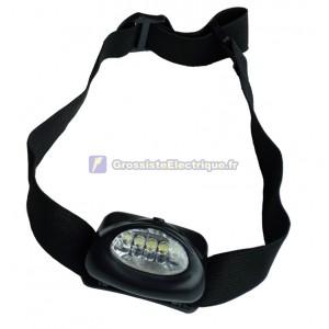 Lampe de poche LED avec 5 têtes bretelles réglables