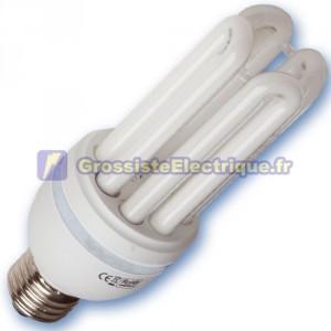 Encadré 10 ampoules basse consommation 28W E27 2700K chaud