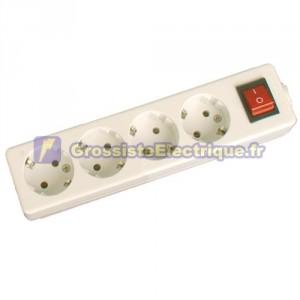 Plusieurs de base 4 prises (4T) avec interrupteur et sans fil série méga