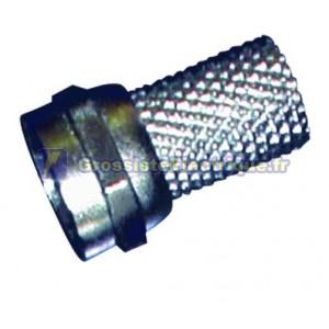 F Connecteur mâle pour câble coaxial de torsion de 7 mm.