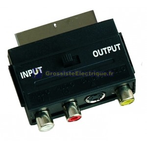 Scart-3 adaptateur RCA
