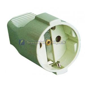 TT AFB entrée latérale câble bipolaire droite Ø 4,8 mm. Thermoplastique