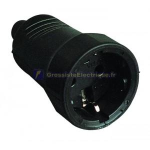 AFB bipolaire TT caoutchouc noir avec entrée de câble latérale et droit Ø 4,8 mm