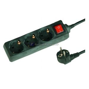 Plusieurs de base Black 3 coups (3T) avec cordon d'alimentation standard de série