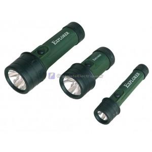 Lampe de poche en plastique résistant aux chocs avec le caoutchouc et l'eau 2 R20