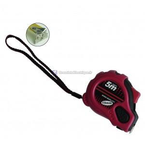 Ruban à mesurer en caoutchouc, 3 boutons d'arrêt avec pointe magnétique. 8 mètres.