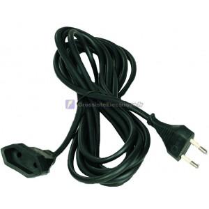 Noir rallonge de câble électrique