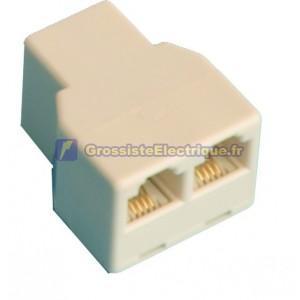 Distributeur adaptateur modulaire double, femelle 6p/4c pour 2 femmes