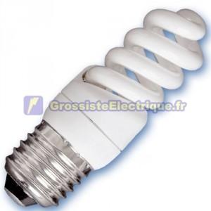 Encadré 10 ampoules basse consommation 9W E27 6400K microbobine froid