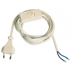 Câblé avec interrupteur étape, 2A 250V blanc