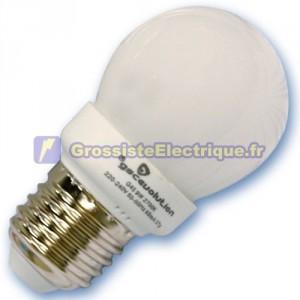 Encadré 10 ampoules basse consommation 9W E27 6400K froid sphériques
