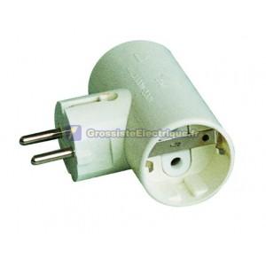 Base de multiple - double adaptateur de sortie TT 2P + céramique renforcée latérale