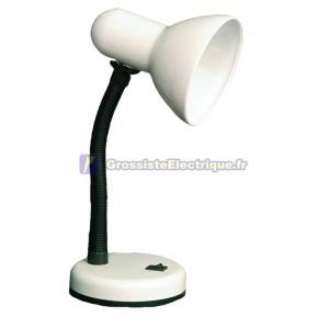 Flexo lampe de bureau blanc avec lampe à incandescence
