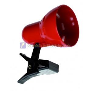 Lampe flexo avec étriers rouges de serrage lampe à incandescence