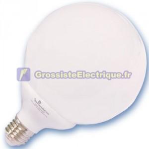 Encadré 10 ampoules basse consommation 25W E27 2700K globe chaude