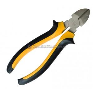Diagonal pince coupante, chrome vanadium, poignée de sécurité ergonomique, 160mm