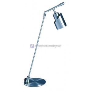 Lampe de bureau design aluminium flexo avec nickel satiné GU10 ampoule halogène de type