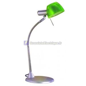 Flexo lampe de bureau vert avec ampoule halogène de type G9